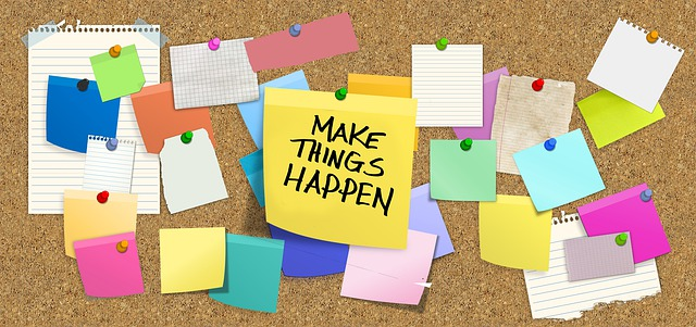 Make things happen sticky  notes    notes for daily success