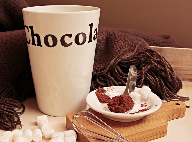 hot chocolate winter time